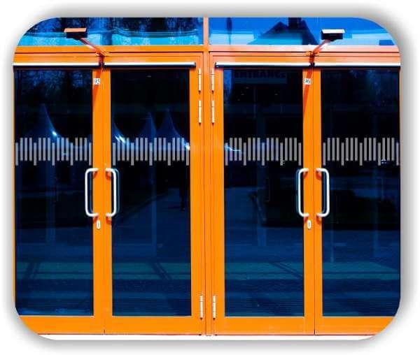 Durchlaufschutzfolie - Zuschnitt 20 cm Höhe - versetzte Horizontale Streifen