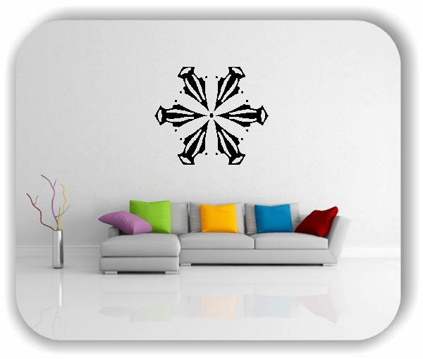 Wandtattoo - Snowflakes - ab 50x43 cm - Motiv 2538