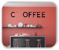 Wandtattoo - Coffee - mit Herz
