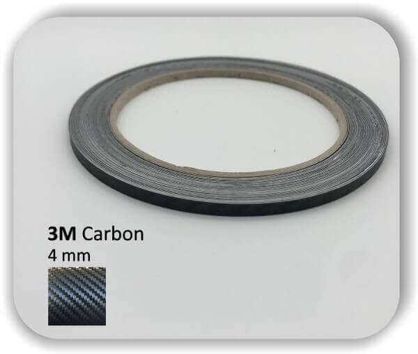 3M Zierstreifen Carbon Wrapping Folie 1080 3D-Folie 4 mm für Auto Boot Motorrad