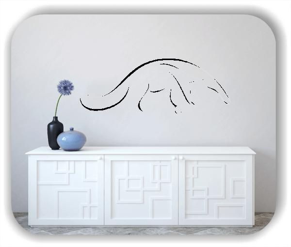 Wandtattoo - Tier Silhouette - ab 50x19 cm - Nasenbär