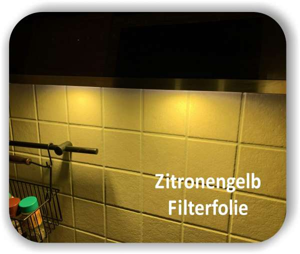 Zuschnitt Warmlicht Zitronengelb - Diffusorfolie - LED Warmlichtfilter