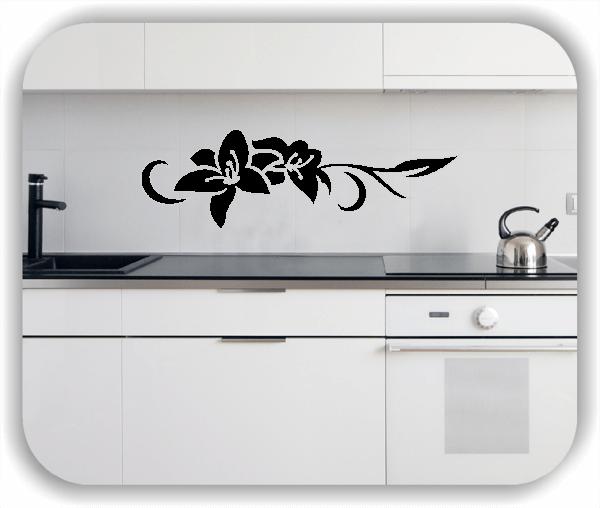 Wandtattoo - Florale Blumen & Blätter - Motiv 2803