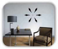 Wandtattoo - Snowflakes - ab 50x47 cm - Motiv 2529