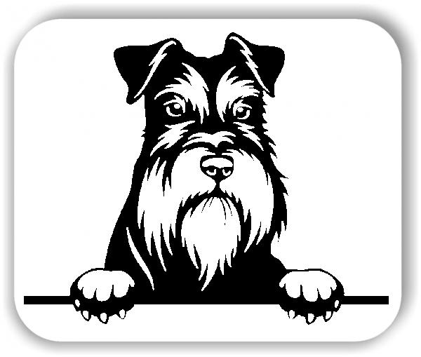 Wandtattoo - Hunde - Zwergschnauzer - ohne Rassenamen
