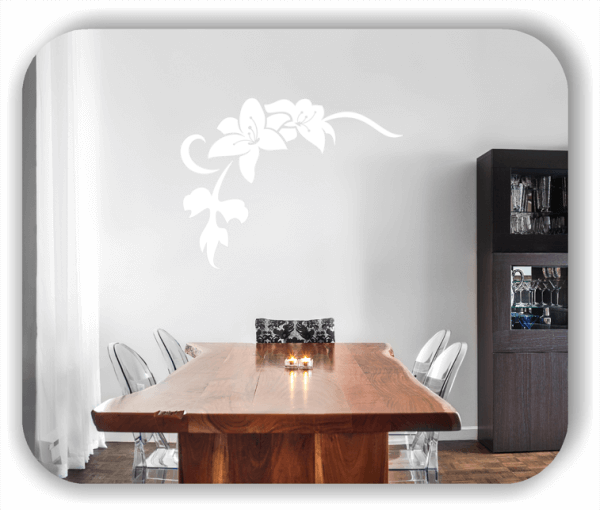 Wandtattoo - Florale Blumen & Blätter - Motiv 2840