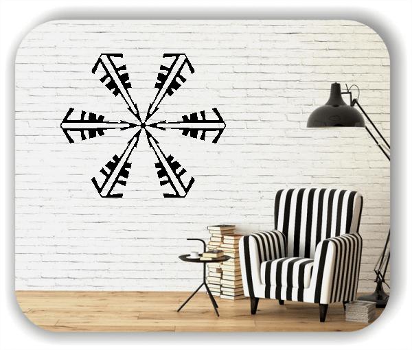 Wandtattoo - Snowflakes - ab 50x43 cm - Motiv 2581
