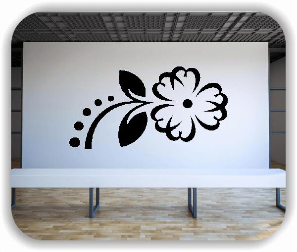 Wandtattoo - Florale Blumen & Blätter - Motiv 09