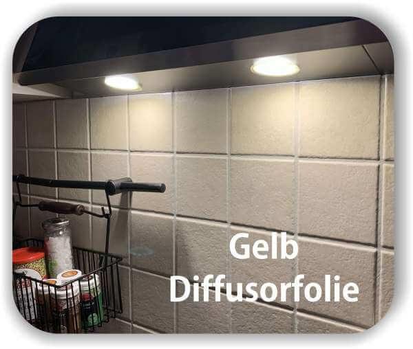 Zuschnitt Diffusorfolie Warmlicht Gelb - LED Filterfolie Tönungsfolie