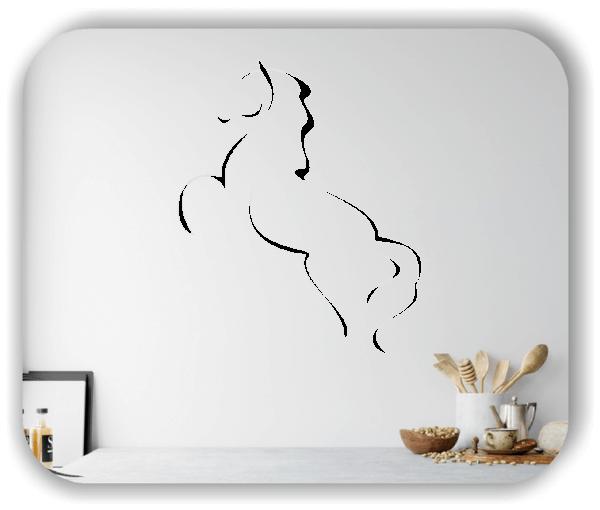 Wandtattoo - Tier Silhouette - ab 50x60 cm - Wildpferd