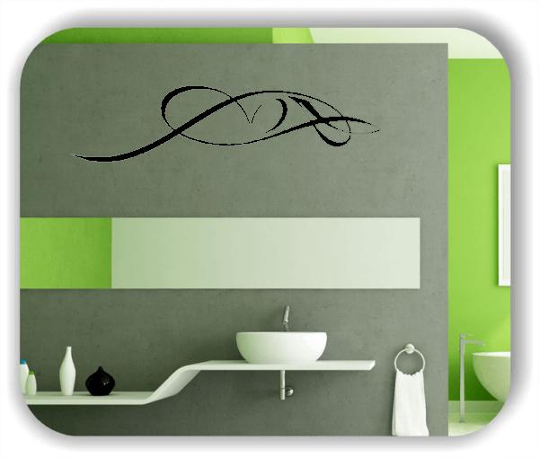 Wandtattoo - Schnörkel Design - ab 60 x 15 cm - Motiv 25