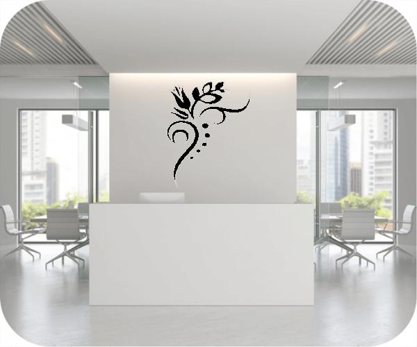 Wandtattoo - Florale Blumen & Blätter - Motiv 51