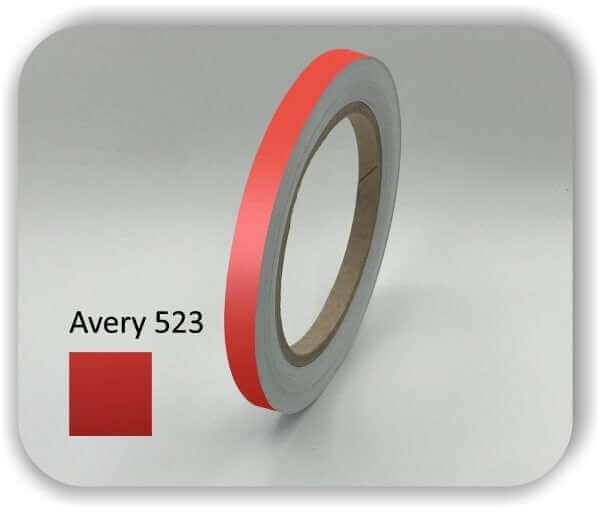Medium Rote 7 mm Zierstreifen für Auto, Motorrad & Boot