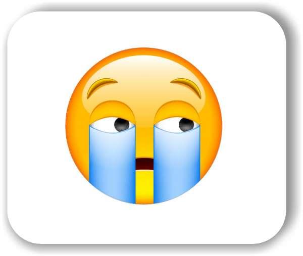 Strichgesicht - Heftig weinendes Gesicht