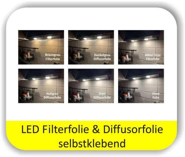 LED Warmlichtfilter Potpourri Grau - LED Lichtfolien