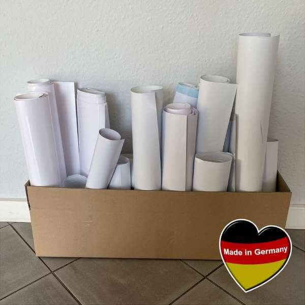 Folien Reste - 2 kg Weiß - Selbstklebefolien