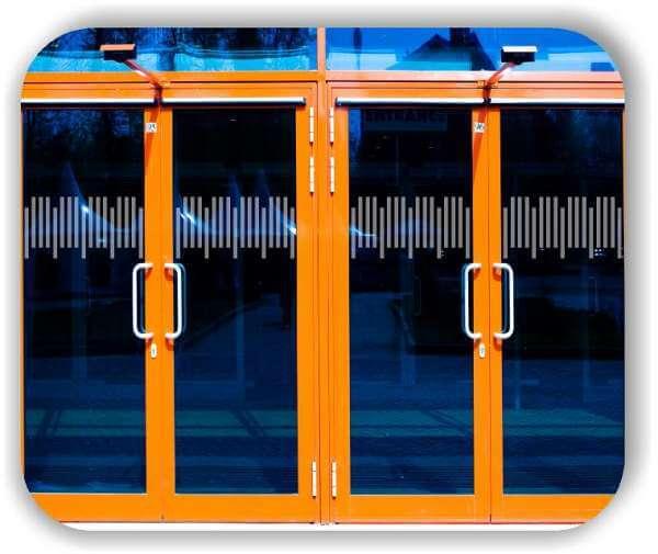 Durchlaufschutzfolie - Zuschnitt 30 cm Höhe - versetzte Horizontale Streifen
