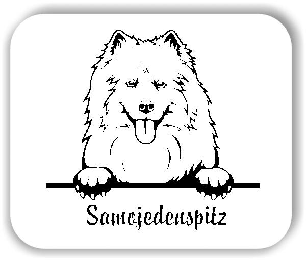 Wandtattoo - Hunde - Samojedenspitz