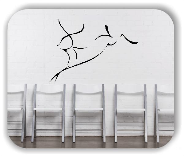 Wandtattoo - Tier Silhouette - ab 50x36 cm - Antilope