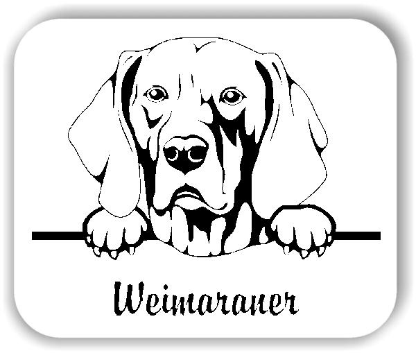 Wandtattoo - Hunde - Weimaraner