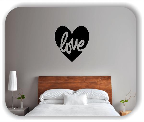 Wandtattoo - Love mit Herz