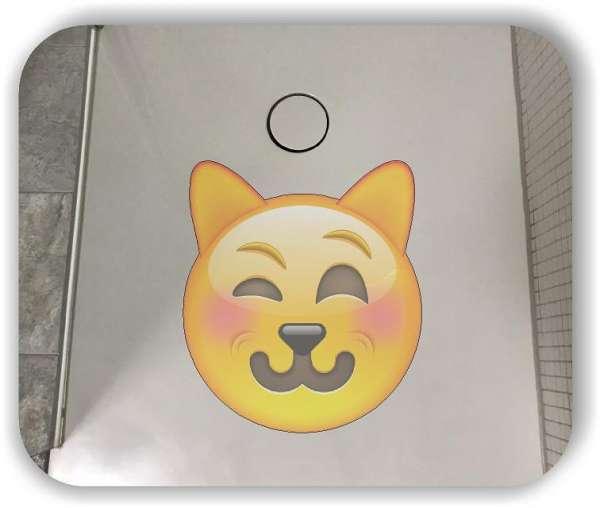 Anti-Rutsch Folie mit Digitaldruck - Strichgesicht - Lächelndes Katzengesicht
