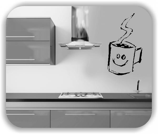 Wandtattoo Küche - Frecher Kaffeepott