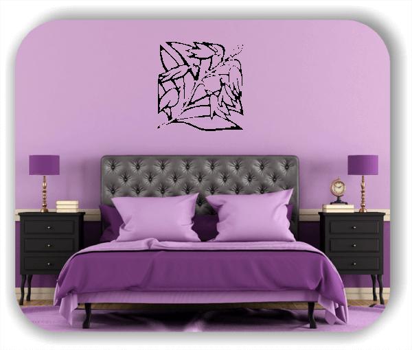 Wandtattoo - Quadratisch Florale Silhouetten - Motiv 27