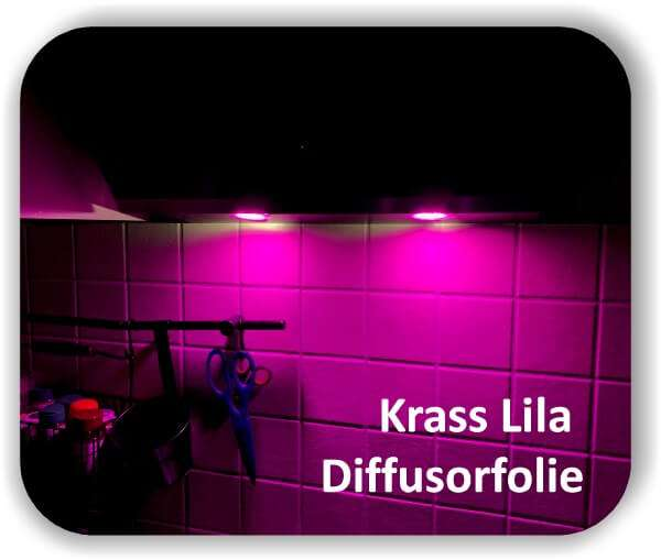 Zuschnitt Lila Diffusorfolie - LED Farbfolie - Streufolie für LED