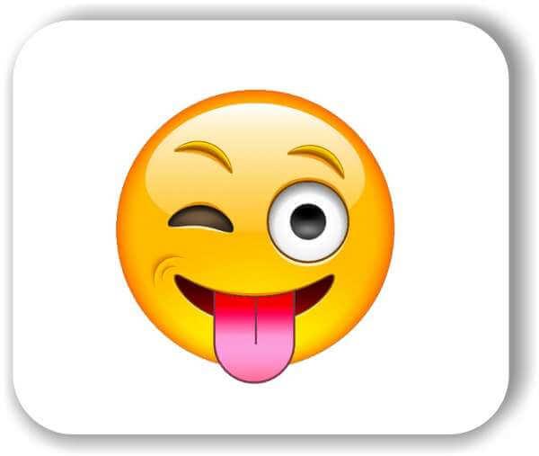 Strichgesicht - Zwinkerndes Auge und rausgestreckte Zunge