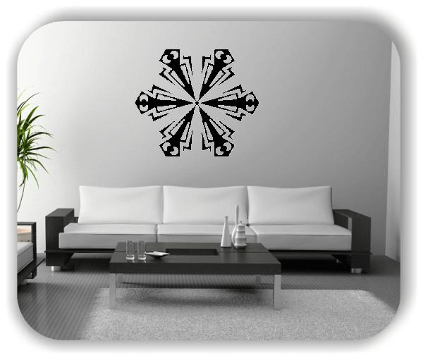Wandtattoo - Snowflakes - ab 50x43 cm - Motiv 2539