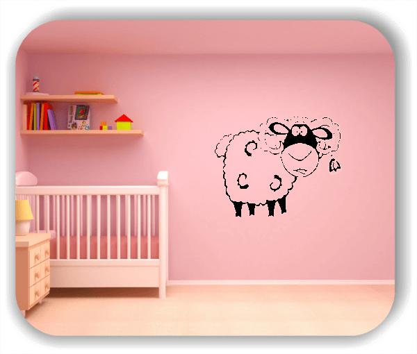 Wandtattoo - Schaf mit Glocke