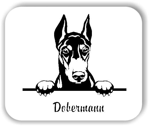 Wandtattoo - Hunde - Dobermann Variante 2