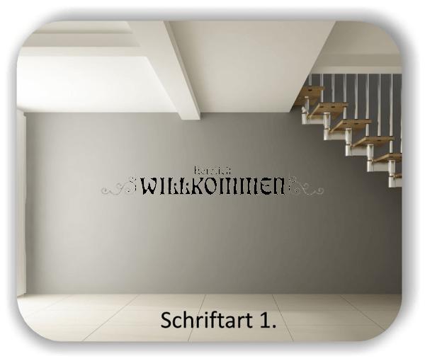 Wandtattoo - Herzlich Willkommen