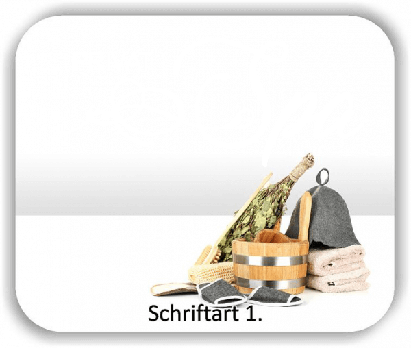 Wandtattoo - Privat Spa