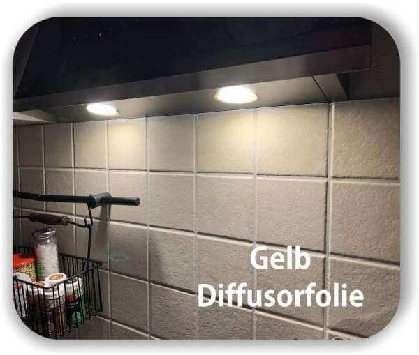 Diffusorfolie Warmlicht Gelb - Zuschnitt - LED Filterfolie