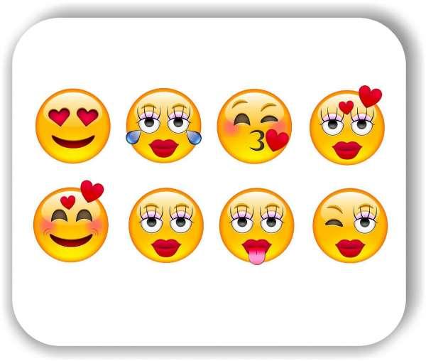 Strichgesicht - 8 verschiedene Motive - Liebe Gesichter