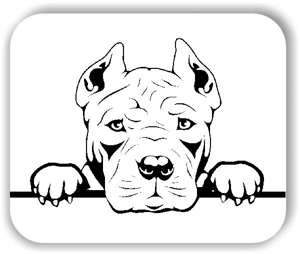 Wandtattoo - Hunde - American Pit Bull Terrier - ohne Rassename