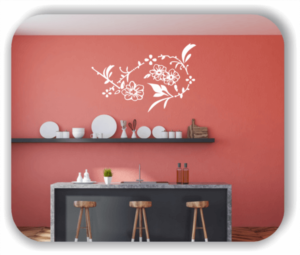 Wandtattoo - Florale Blumen & Pflanzen - ab 50x32,5 cm - Motiv 3020