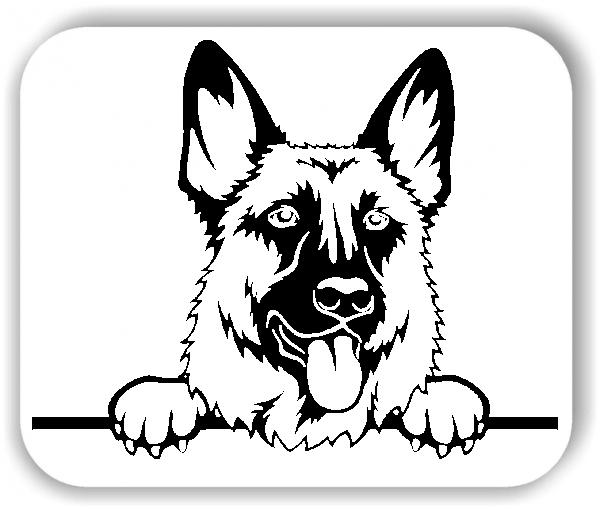 Wandtattoo - Hunde - Schäferhund - ohne Rassename
