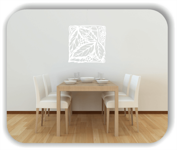 Wandtattoo - Quadratisch Florale Silhouetten - Motiv 44
