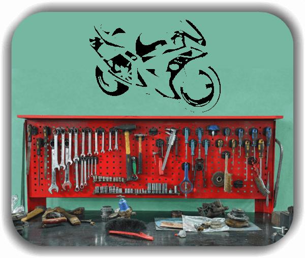Wandtattoo - ab 50x34 cm - Motorrad