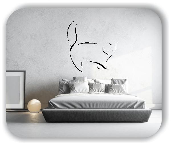 Wandtattoo - Tier Silhouette - ab 50x51 cm - Katze