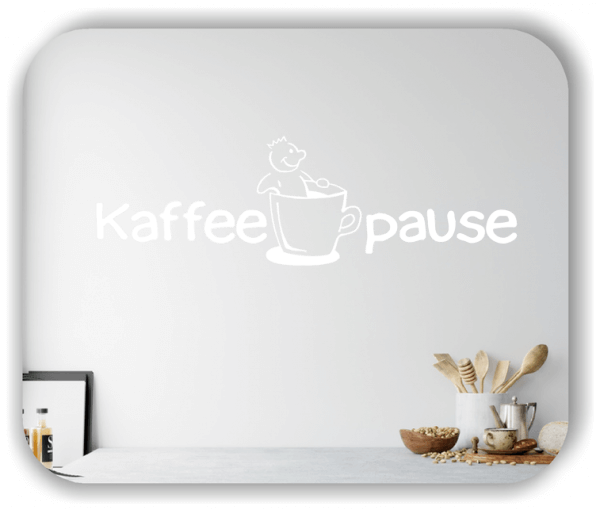 Wandtattoo - Kaffeepause
