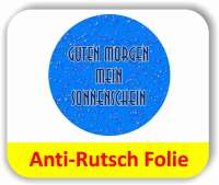 Anti-Rutsch Folie Digitaldruck - Wassertropfen blau