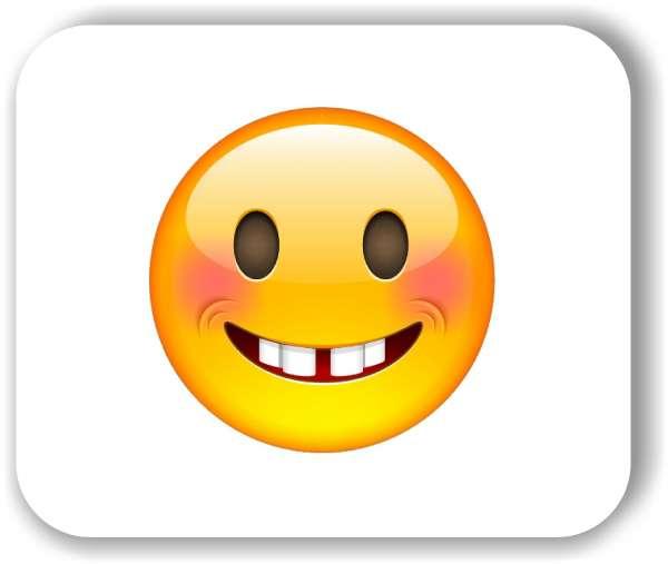 Strichgesicht - Lachendes Gesicht mit roten Wangen