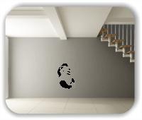 Wandtattoo - Panda mit Luftballons