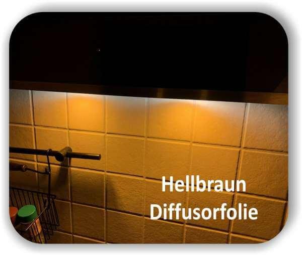 Zuschnitt Warmlicht Hellbraun - Diffusorfolie - LED Warmlichtfilter