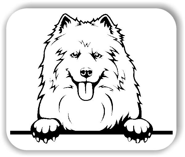 Wandtattoo - Hunde - Samojedenspitz - ohne Rassename