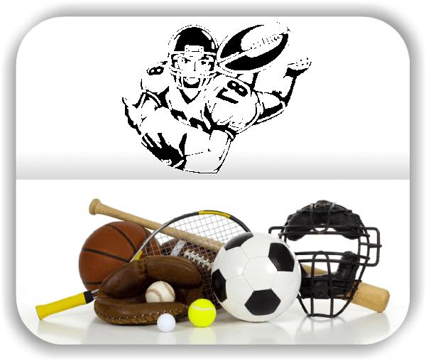 Wandtattoo - ab 50x40 cm - Rugby